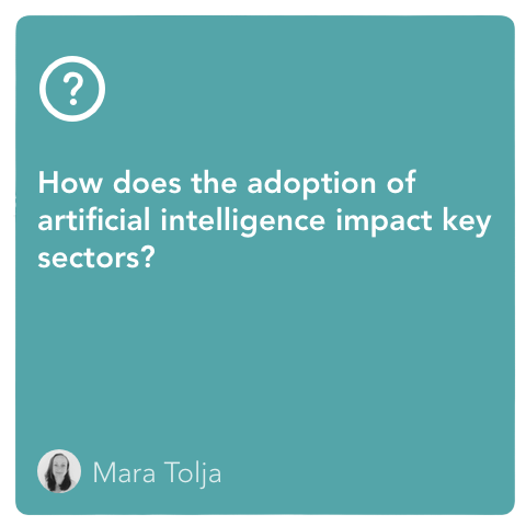 How does the adoption of AI impact key sectors?