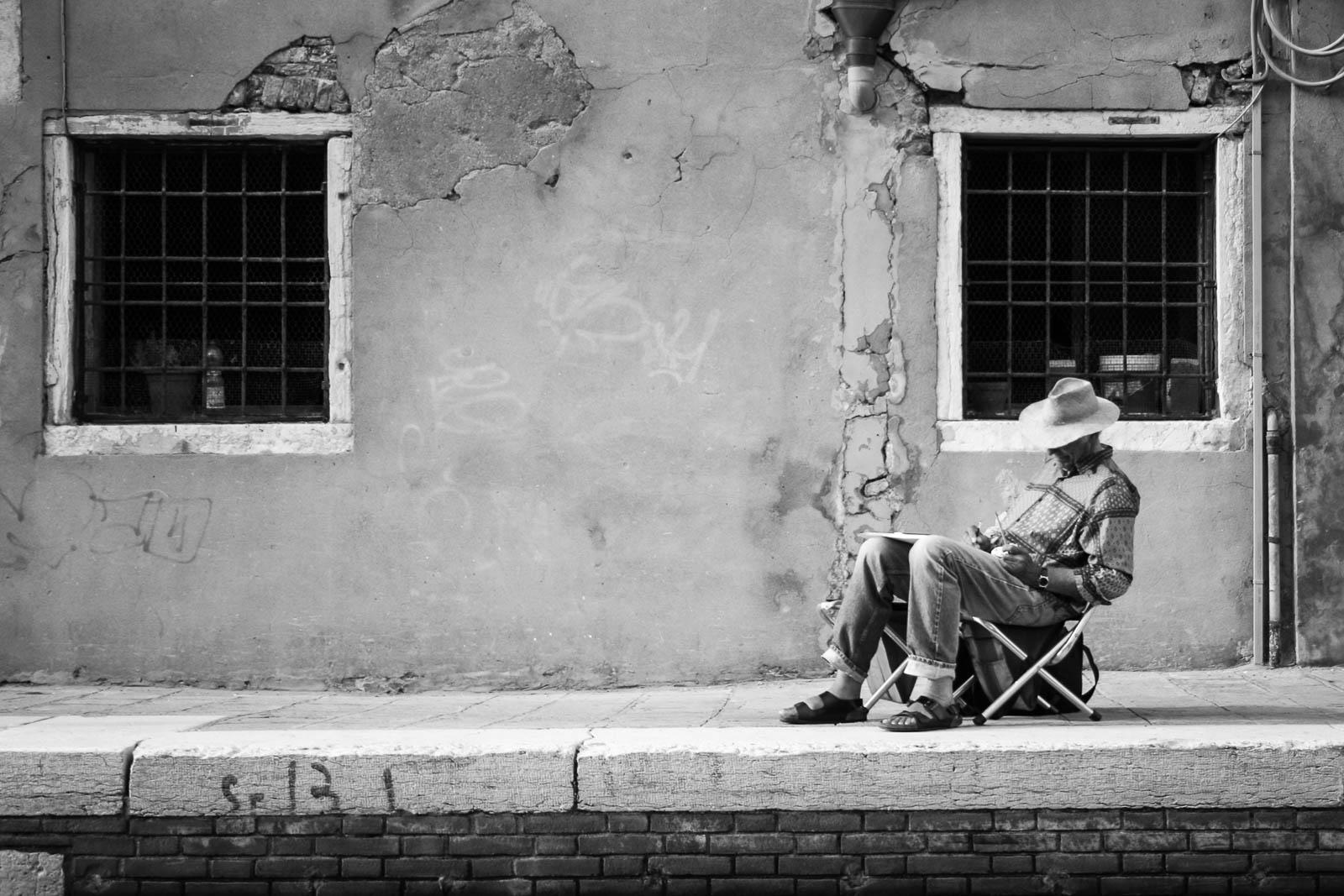 Venetian street artist