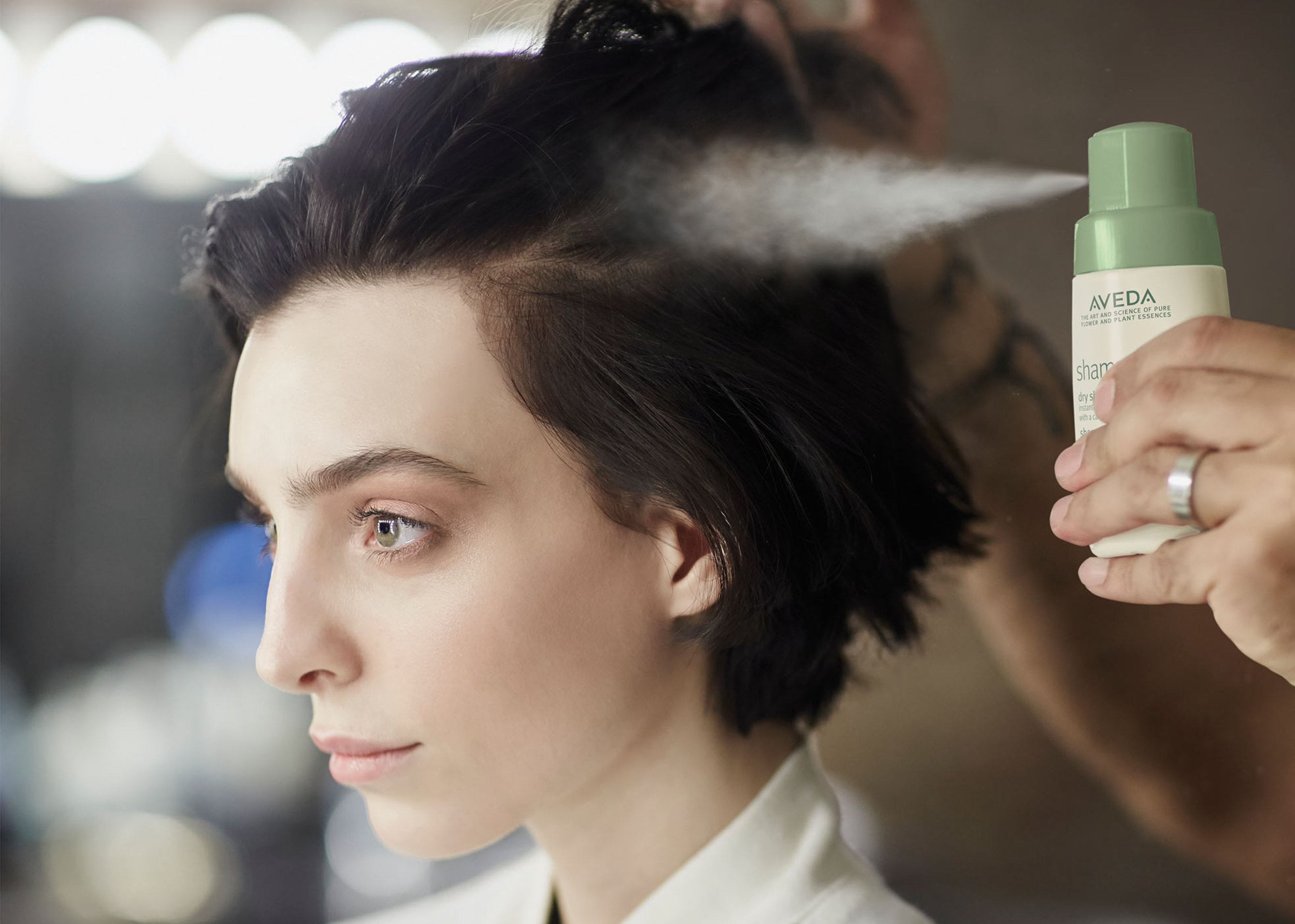 4) Make the most out of your hairstyles by incorporating Aveda's Shampure Dry Shampoo to refresh between shampoos. It not only gives great volume and absorbs excess oils but it imparts a fresh clean scent and creates the perfect texture for that second day up-style so you can focus more on getting your homework done or grading those papers.