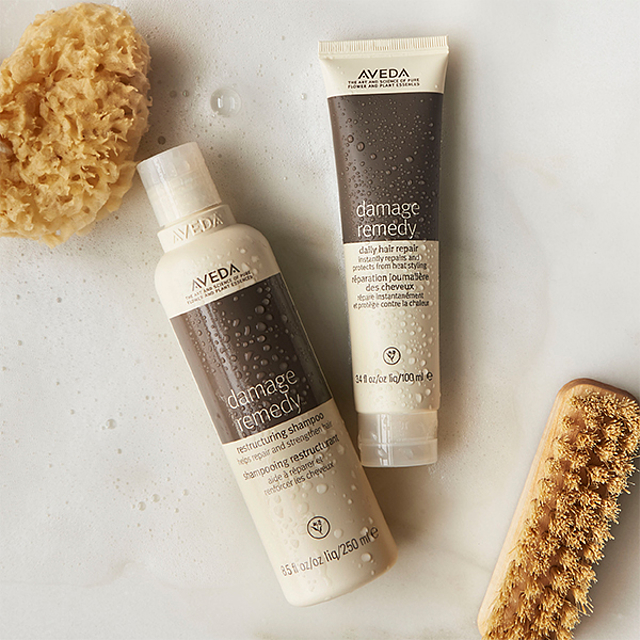 Damage Remedy - This shampoo & conditioner is AMAZING for all blondes especially during the summer because it's going to restore the protein back into the hair that gets lost from heat styling and being out in the sun. Shampoo and condition, leaving the conditioner on for a few minutes to soften the hair.