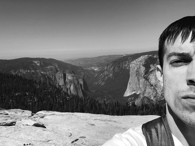 Behind me is some summit I guess a guy climbed once. Made it look easy. • • • • • #hiking #yosemite #hike #yosemitenationalpark #halfdome #outdoors #camping #hikingadventures #mountain #trekking #wilderness #backpacking #getoutside #elcapitan #forest #outdoor #optoutside #climbing #trail #scenery #rei1440project #alps #instanature #thegreatoutdoors #mountainlife #waterfall #summit #trees #lake #nps100