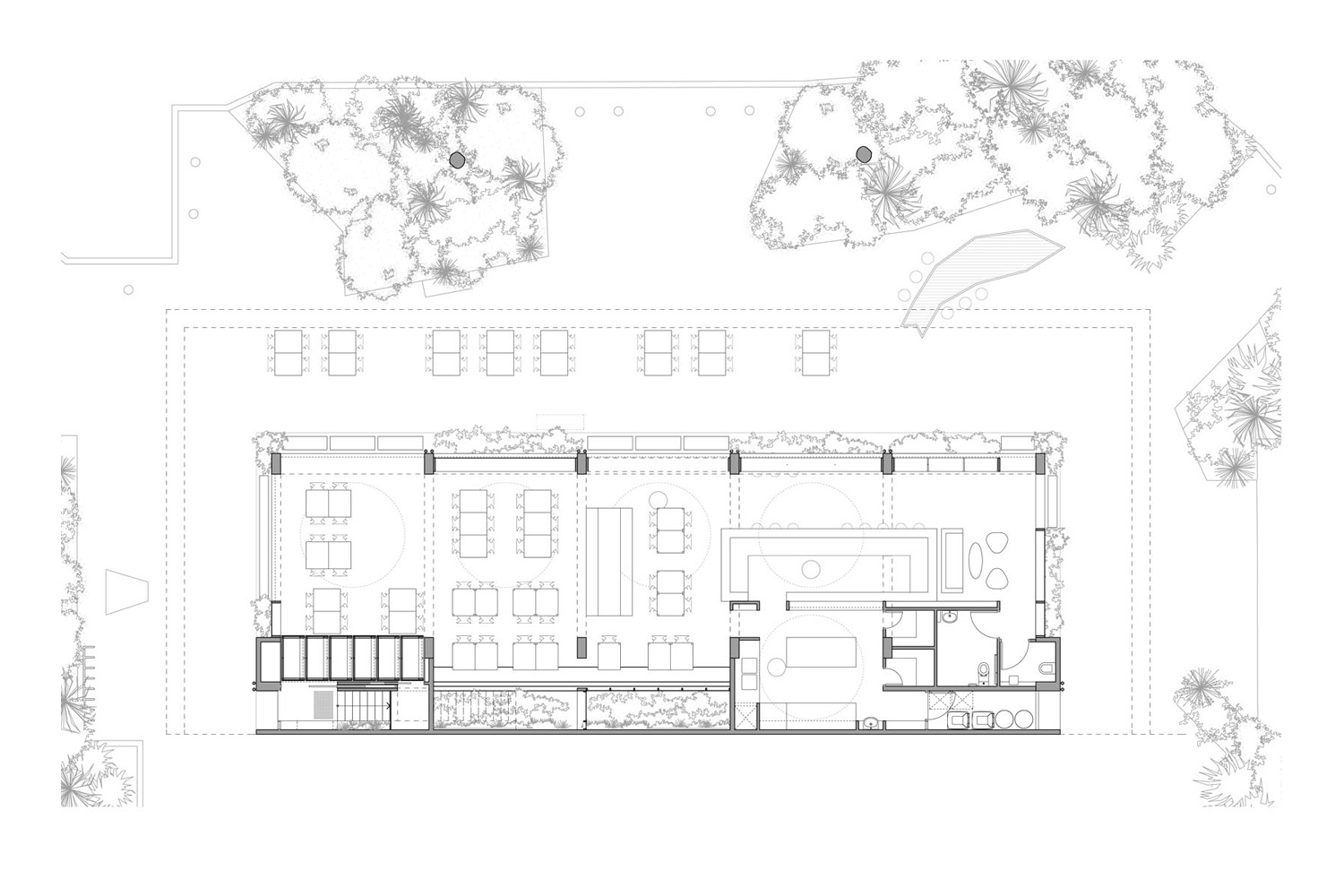 ground floor plan night