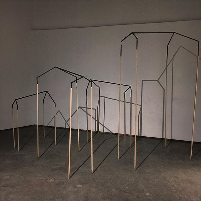 WIP moving forward to thesis mock ups/mid quarter crit  #art #sculpture #fabrication #metalfab #woodfab #woodworking #minimal #minimalist #architecture #home #house #gable #terrain #topography #wip #mfa #gradschool #seattle #uw