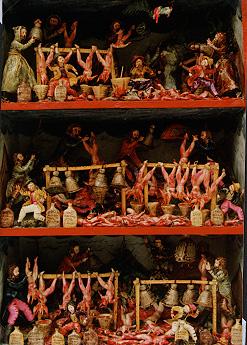 A retablo depicting the horrific work of the pishtaco