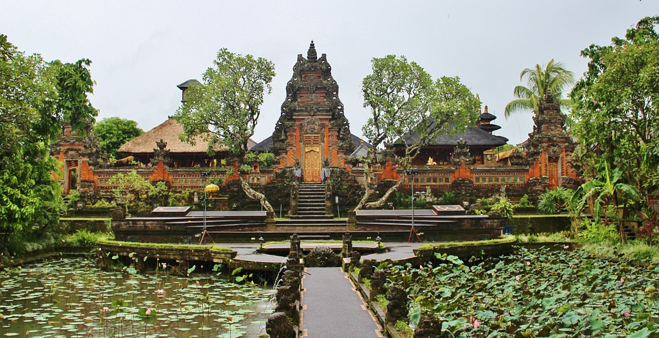 A temple in Ubud on Bali — just don't go in if you're on your period!