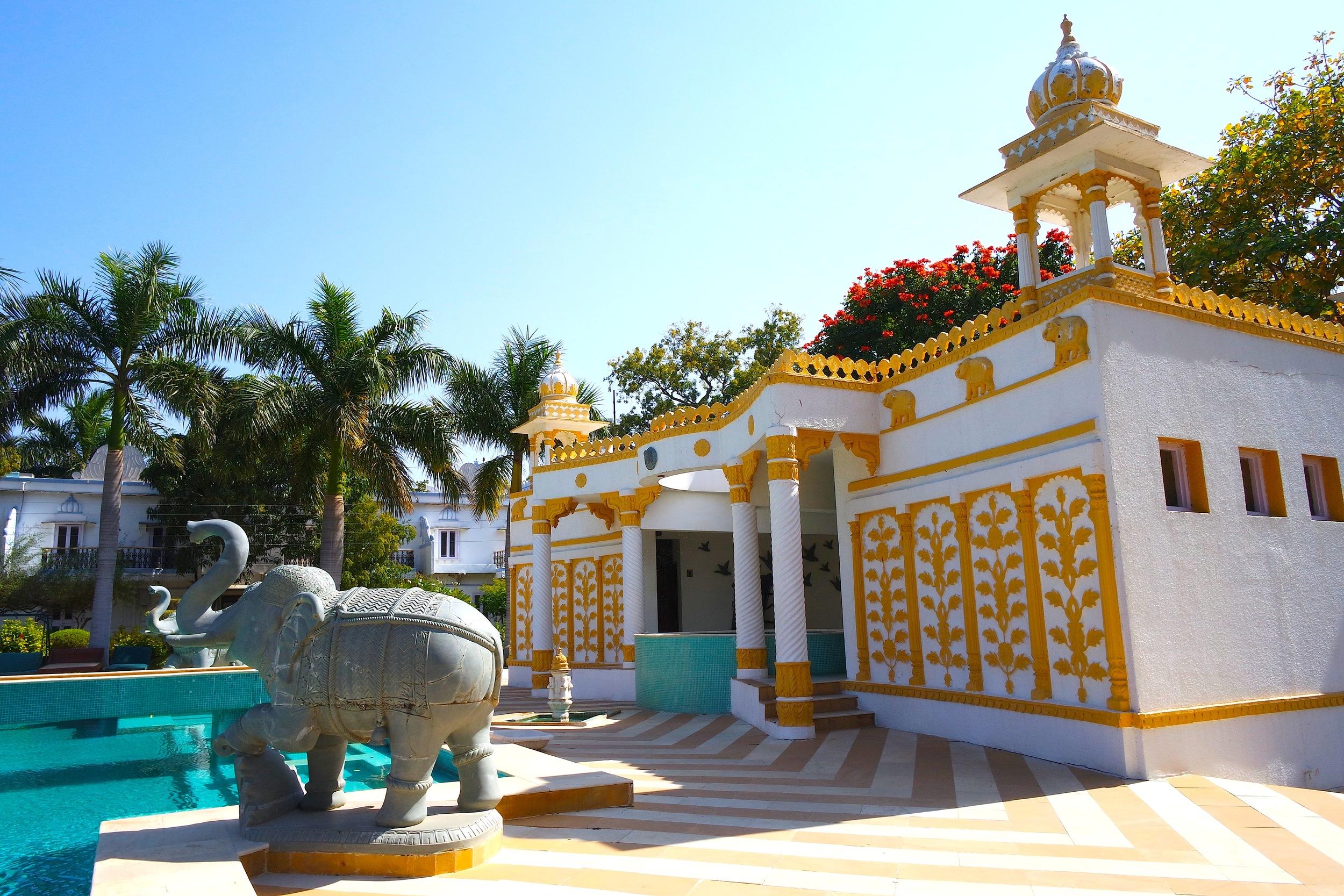 The gorgeous pool at Udai Bilas