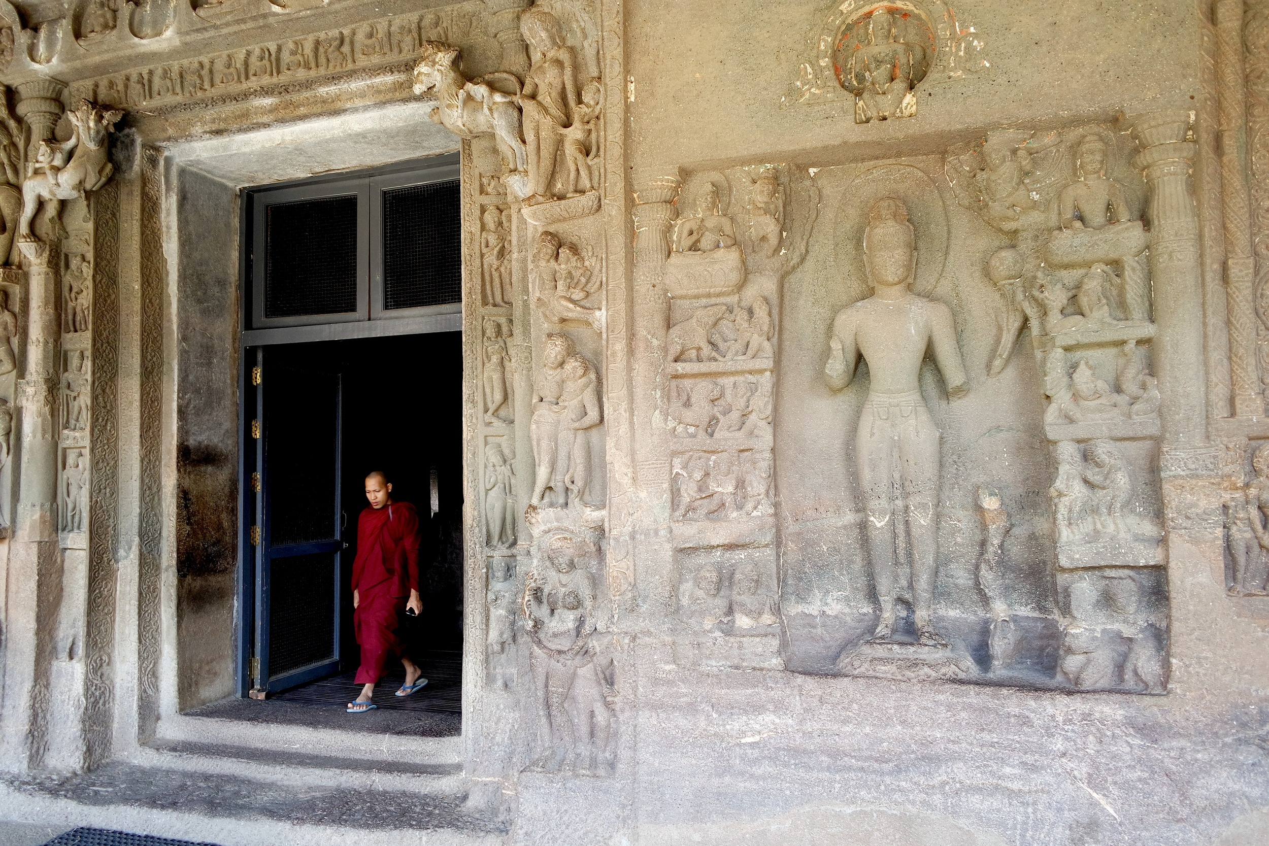 Cave 4: The carving represents a bodhisattva as Reliever of Eight Great Perils