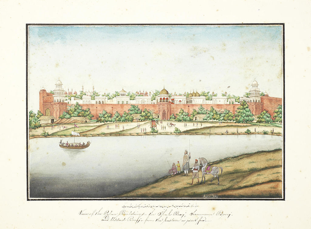 The Red Fort once sat along the Yamuna River