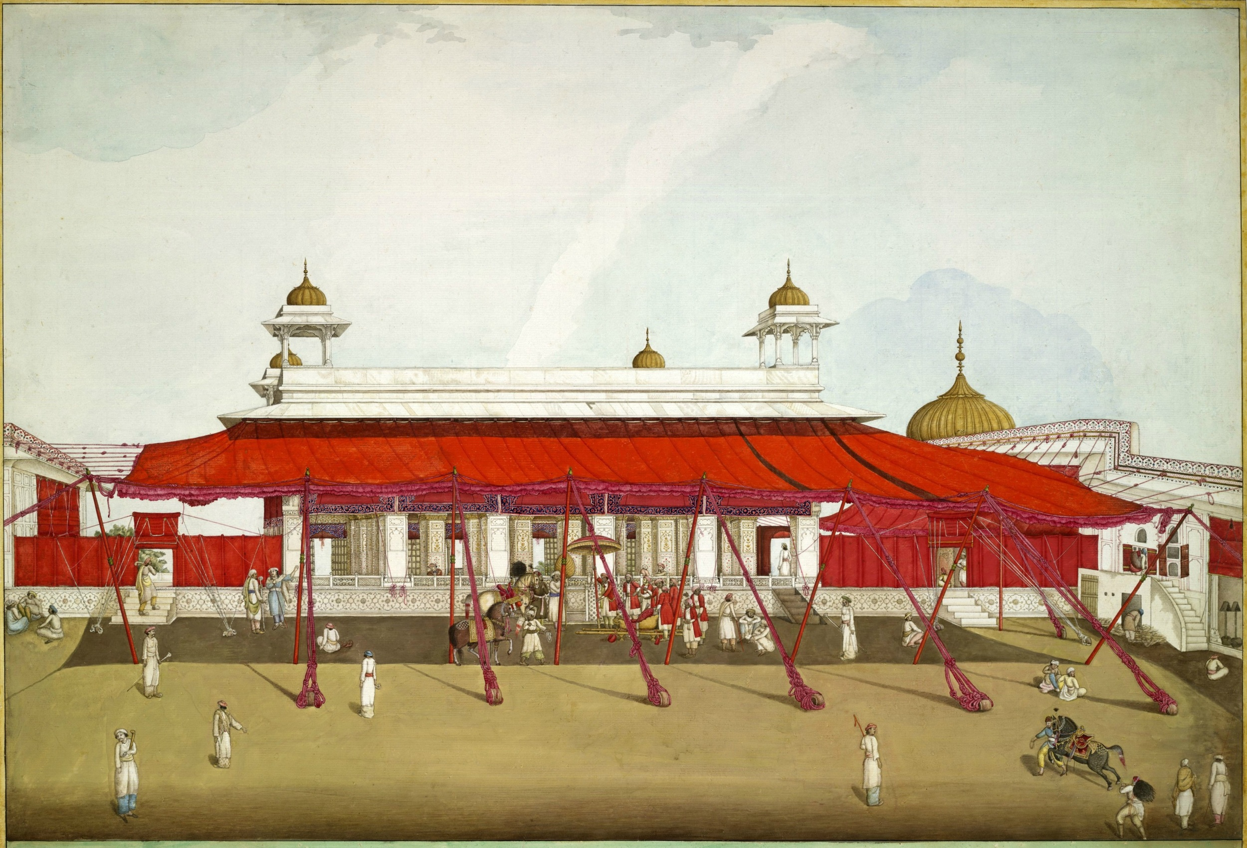 Diwan-i-Khas, or Hall of Private Audiences, where the emperor received guests