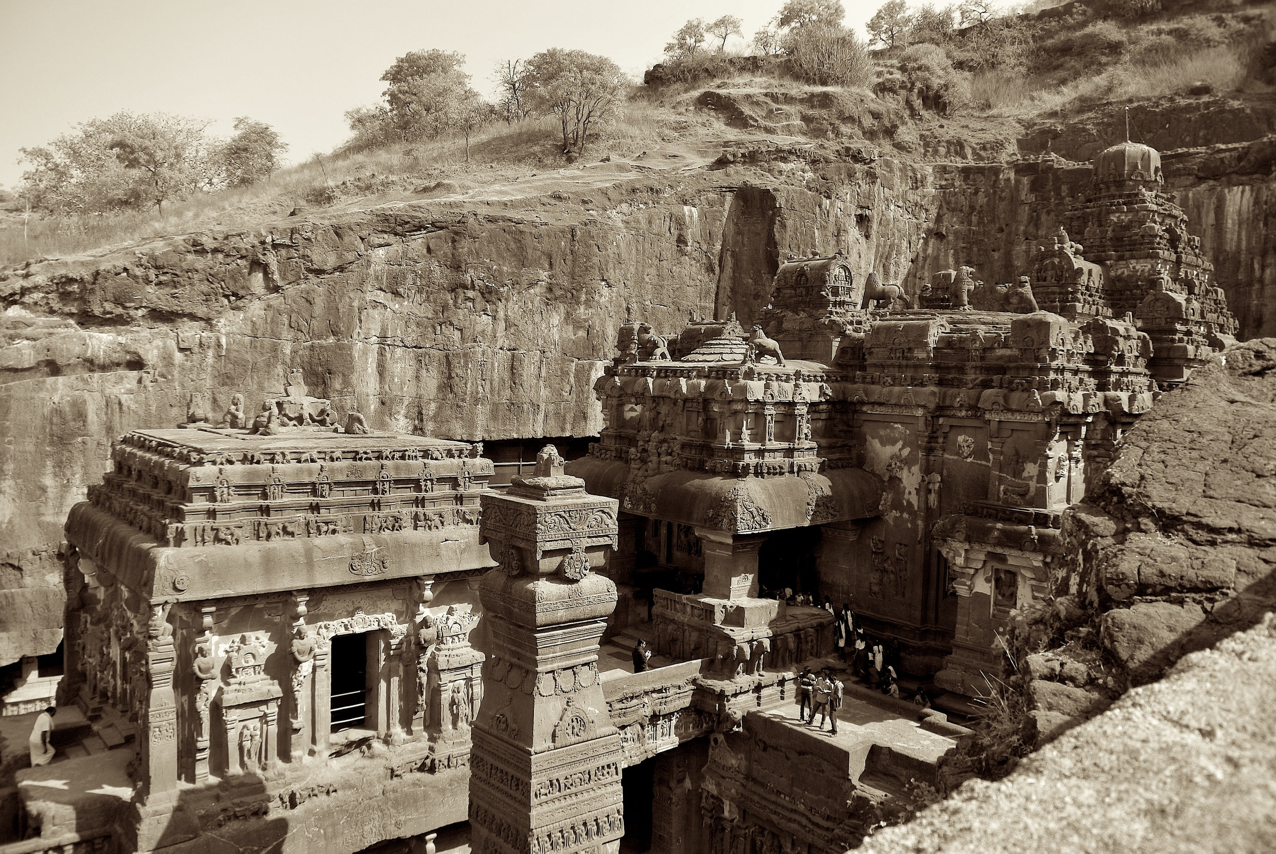 Kailasa, the large Hindu temple in the Ellora Caves complex
