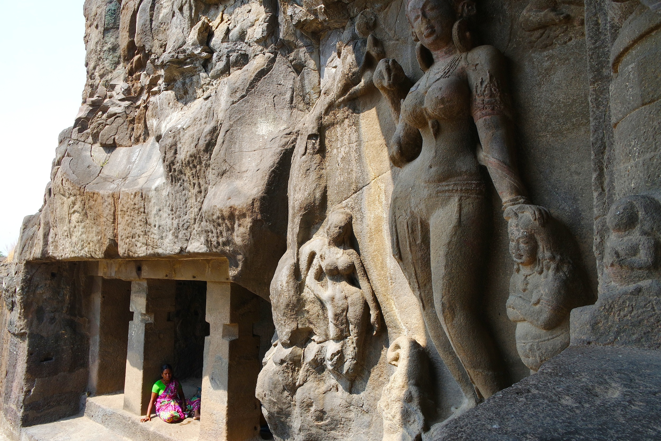 Cave 21, part of the Hindu temples at Ellora in India