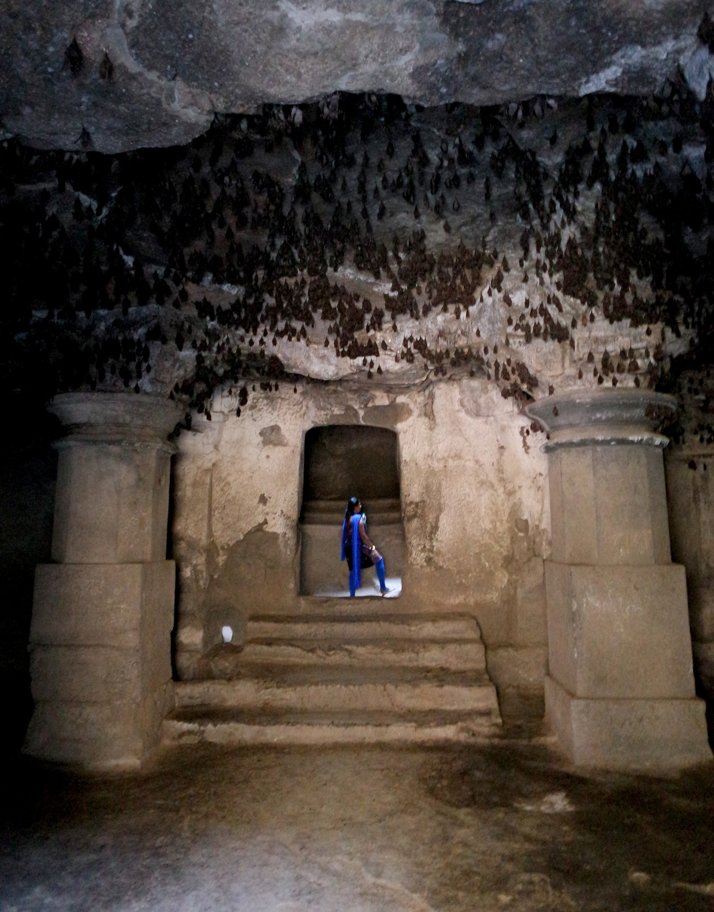 The freaky bat cave at Daulatabad, India