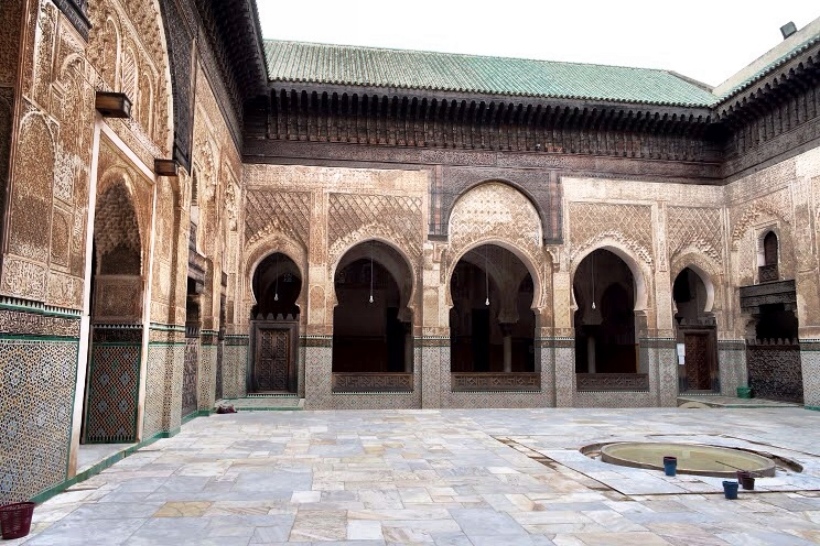 The courtyard of the Islamic school, no longer in use