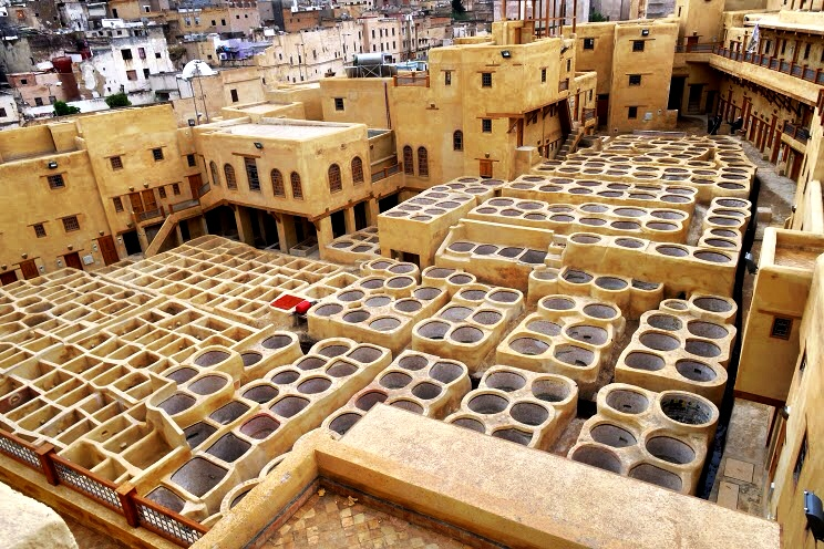 The tanneries are undergoing restoration, so you don't get to see the colorful dyes in the tubs — but you also don't get the awful smell