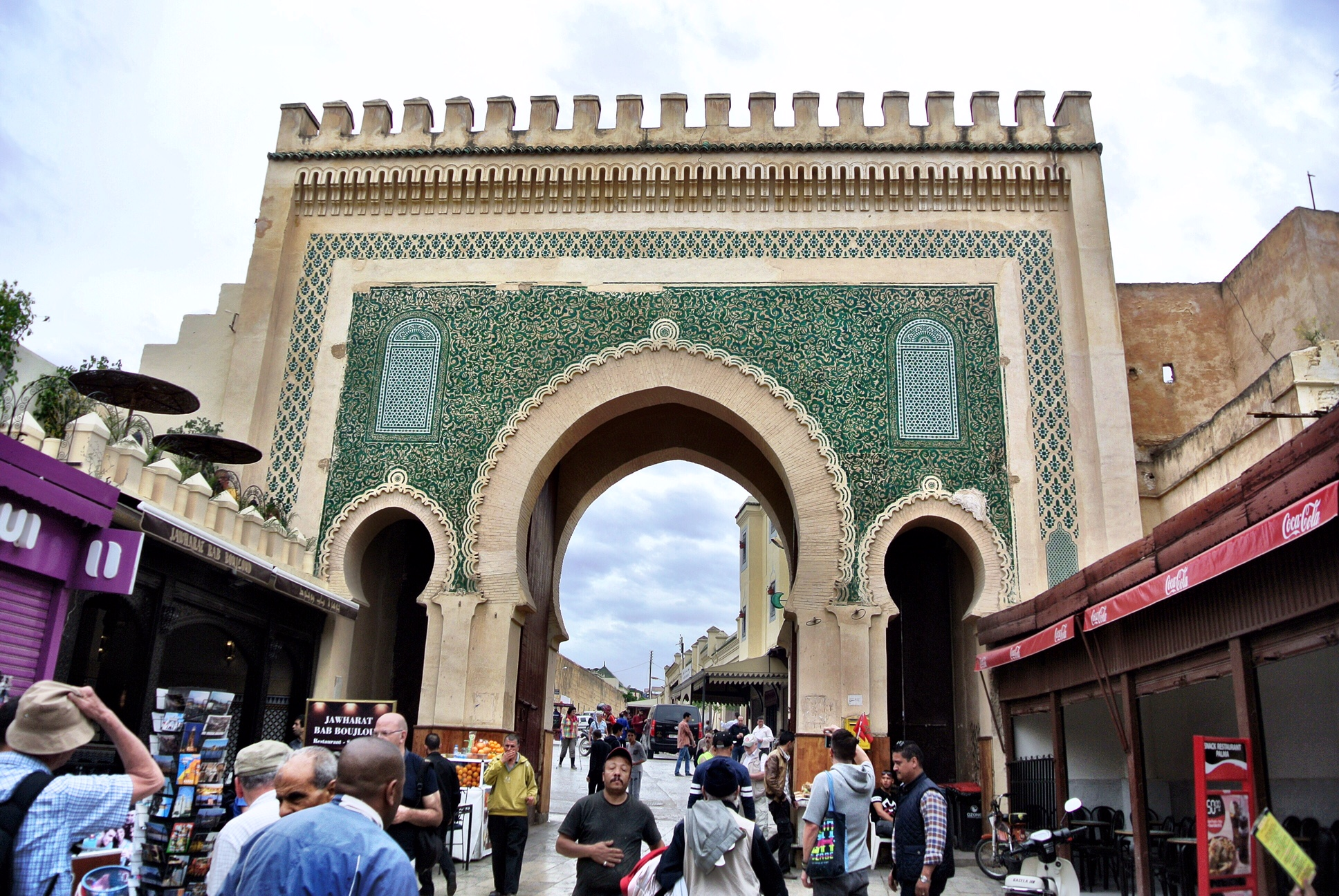 One side of the so-called Blue Gate is actually green, to represent Islam