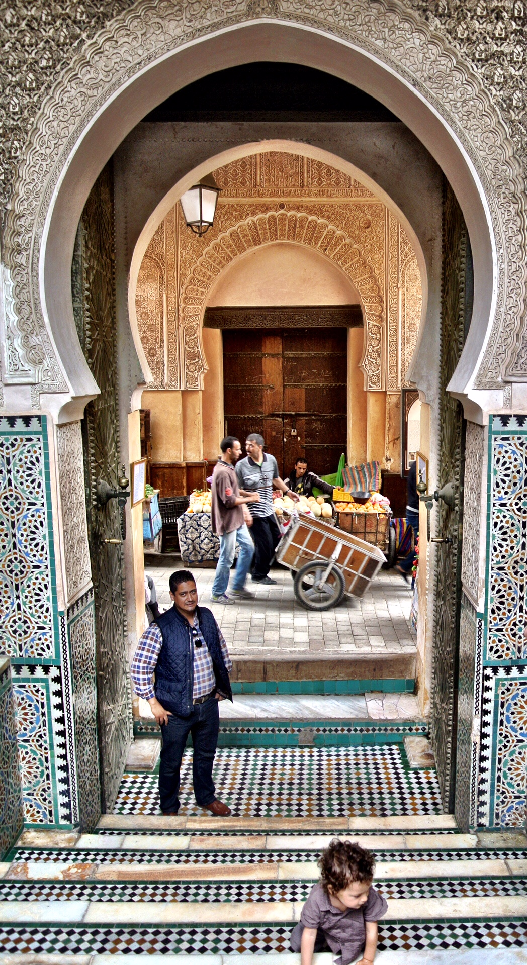 Our excellent guide, Abdul, standing in the medersa doorway
