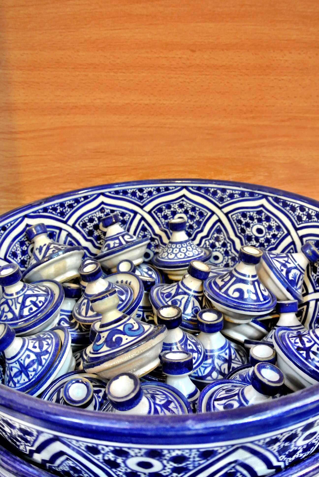 Fès is known for its delightful blue and white pottery
