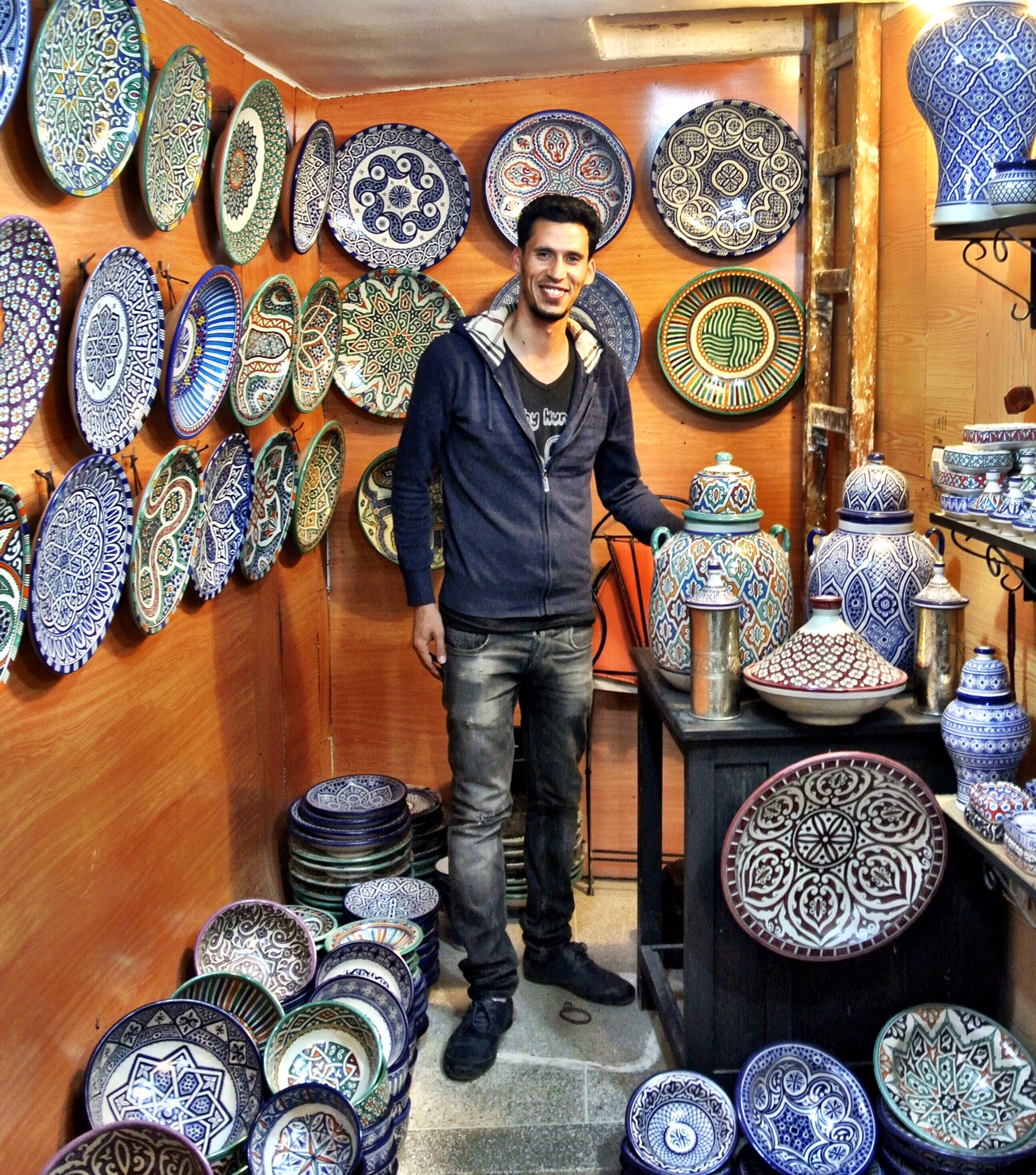 The charming shop owner, Zouhir, offers reasonable deals — perhaps the best in the medina