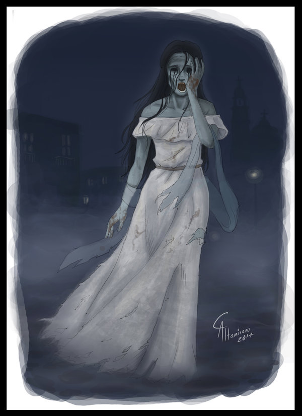 The woman in white, known in Mexico as La Llorona, comes back from the dead to mourn the children she has killed