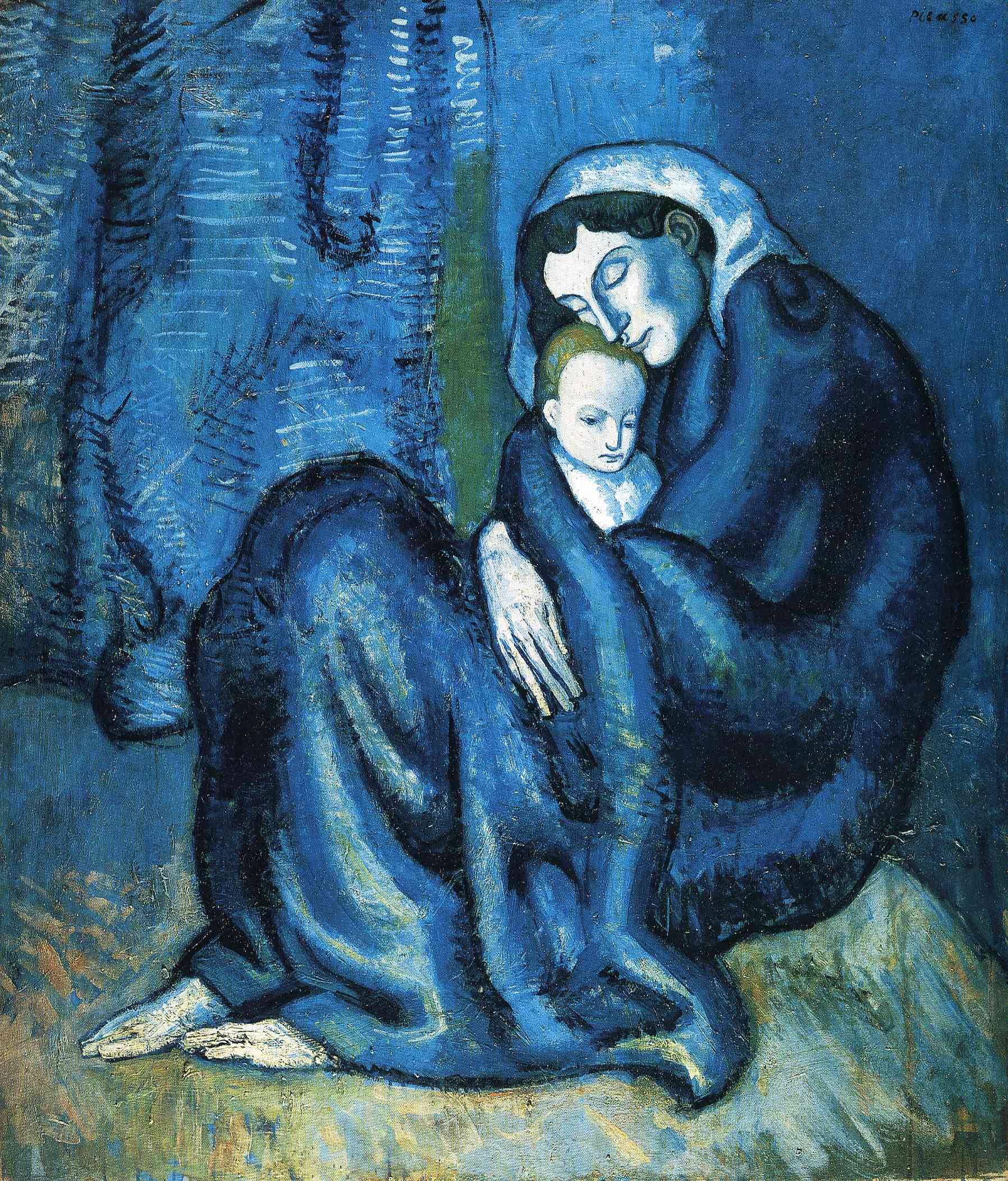 Picasso took his surname from his mother — the tail end of his 23-word name ( Mother and Child , 1902)
