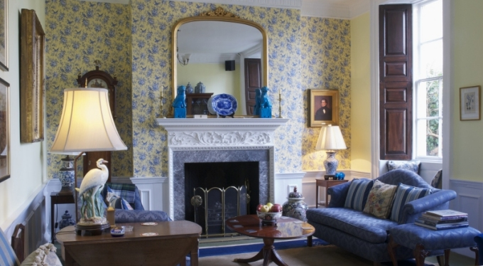 You don't have to be staying at the Bowlish House to enjoy tea or a drink in the Georgian Room, modeled after an English country house