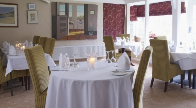 Breakfast, lunch and dinner are available in the Cape Cod Room at the Bowlish House, where diners can enjoy panoramic views of the gardens