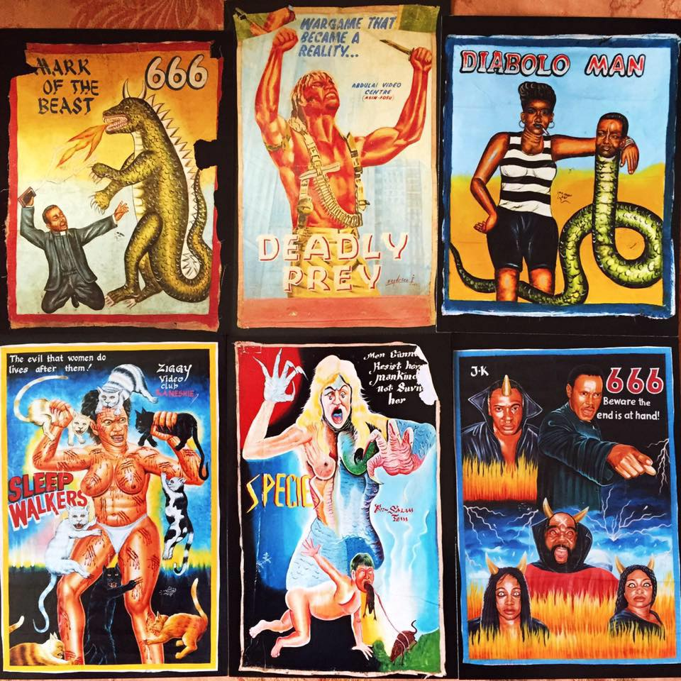 We had never seen anything like these movie posters from Ghana that were hand-painted on flour sacks
