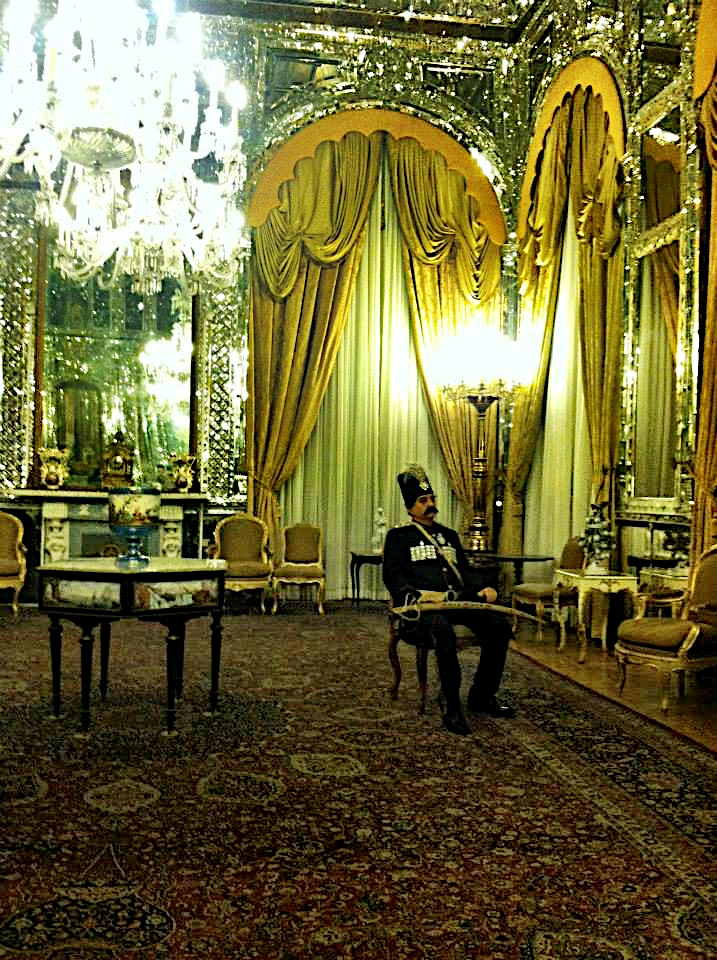 A guard in the Mirror Hall