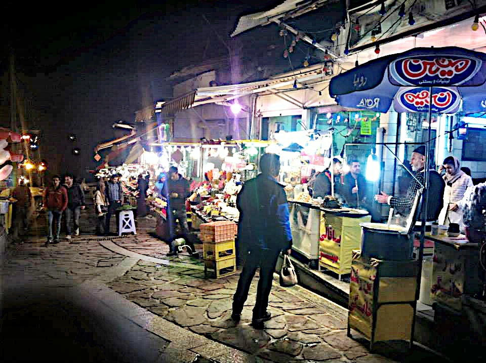 The street food in Darband, a neighborhood in Tehran with lots of great shops and restaurants