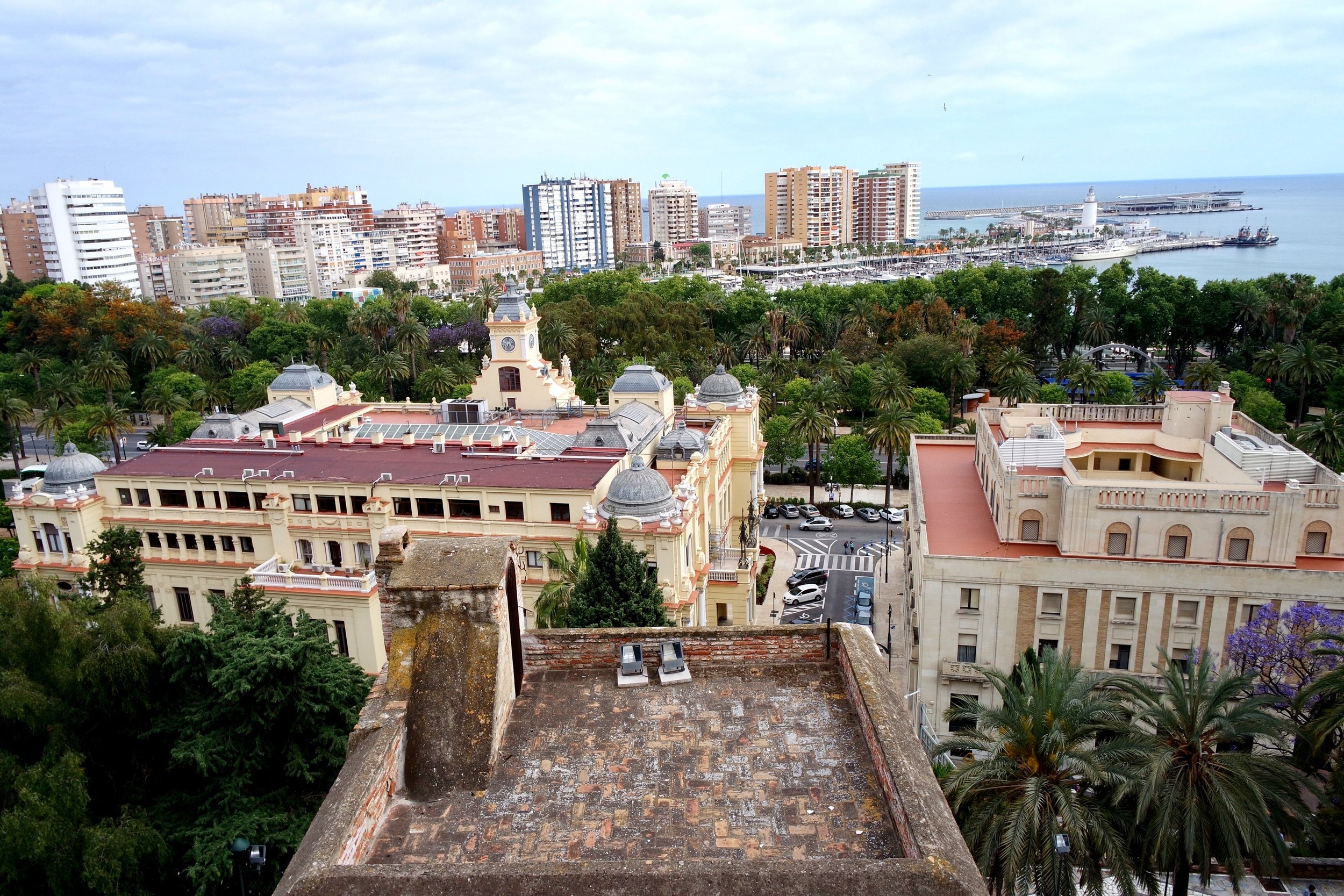 The Alcazaba offers a picture-perfect view of the pastel-colored city and port below