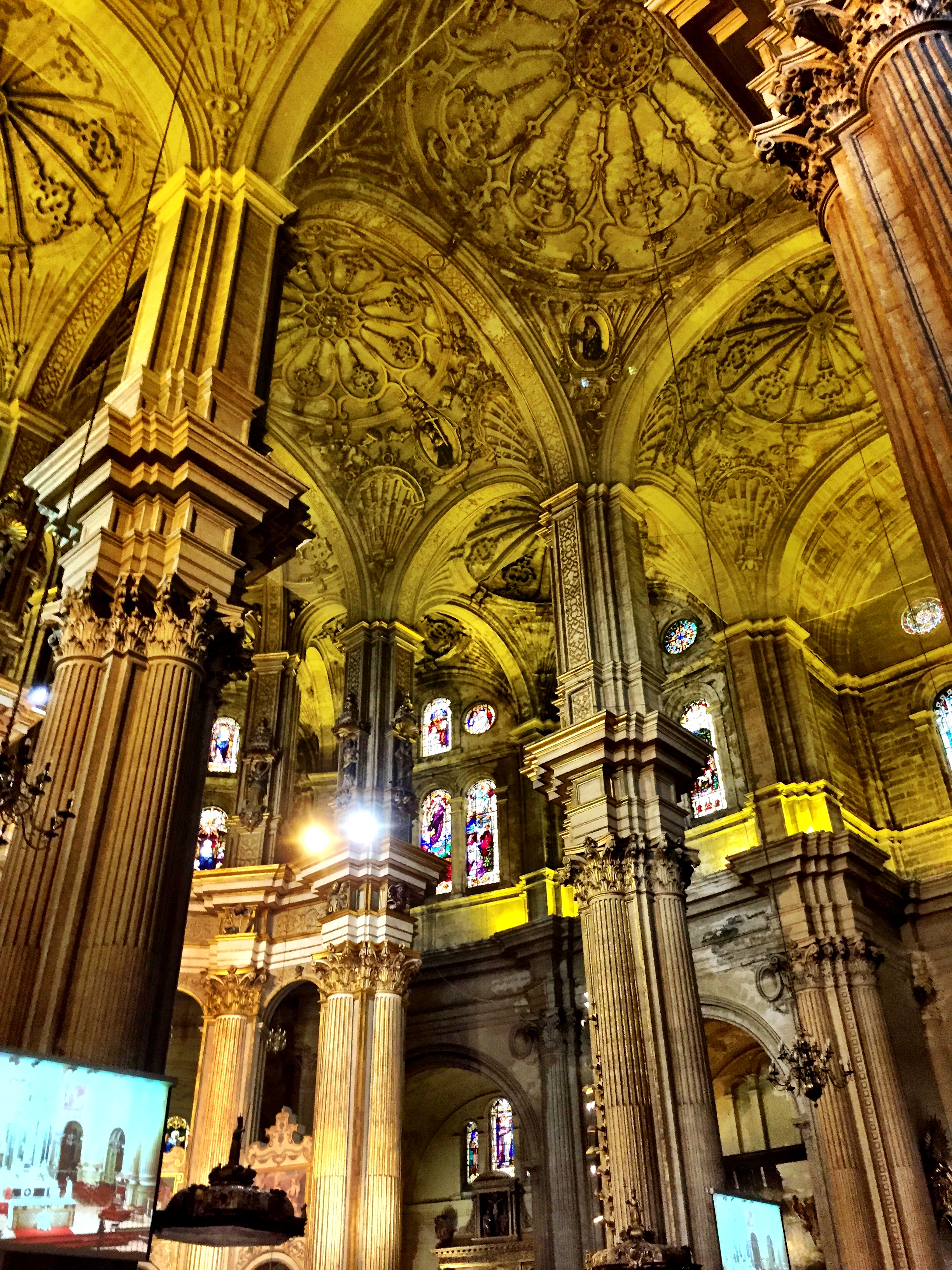 Wally took this one shot of the interior of the Málaga Cathedral, before the guards gestured violently at him