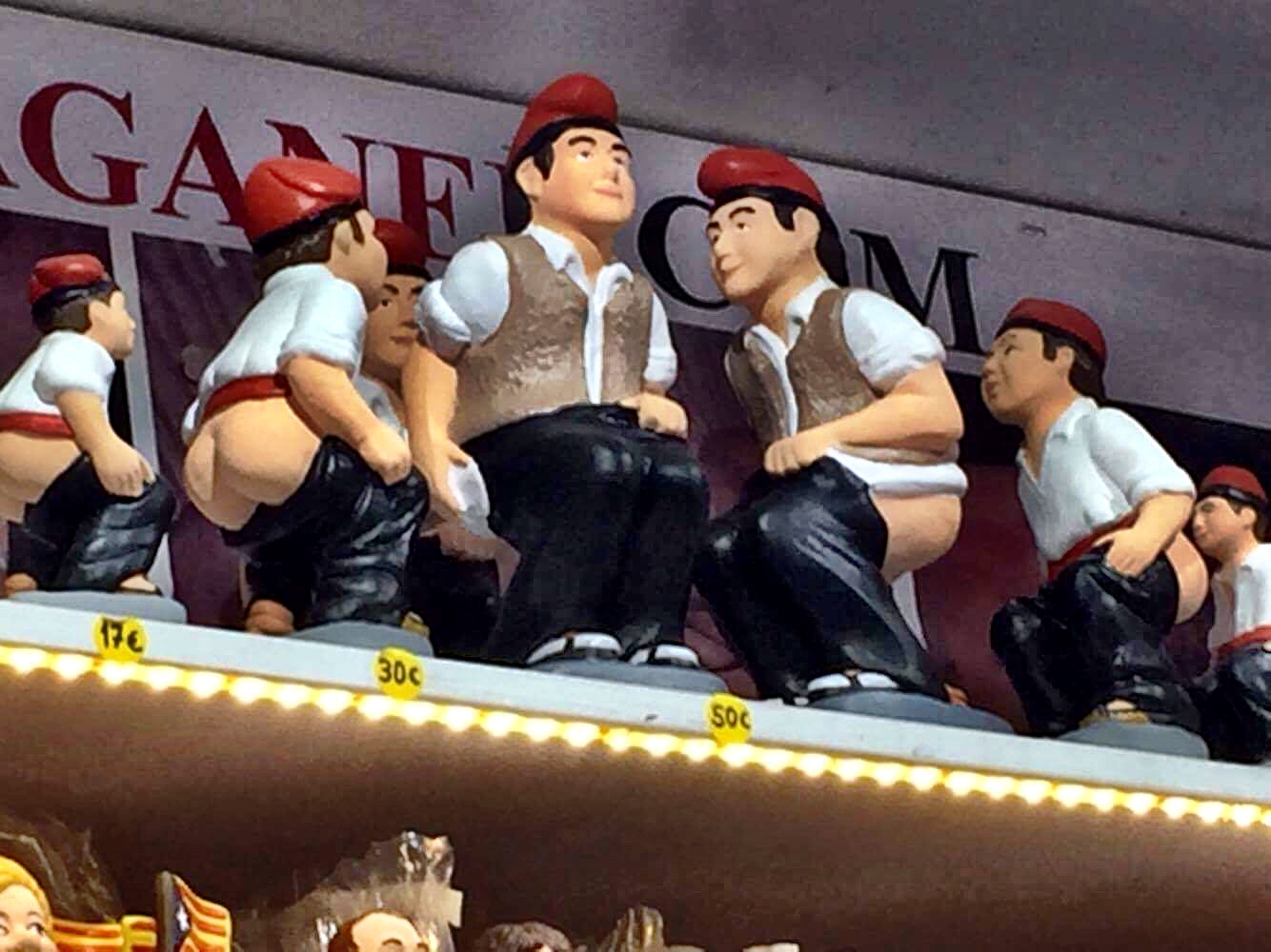 As hard as it might be to believe, this figurine of a man squatting and taking a poop, known as the Caganer, is actually placed in nativity scenes