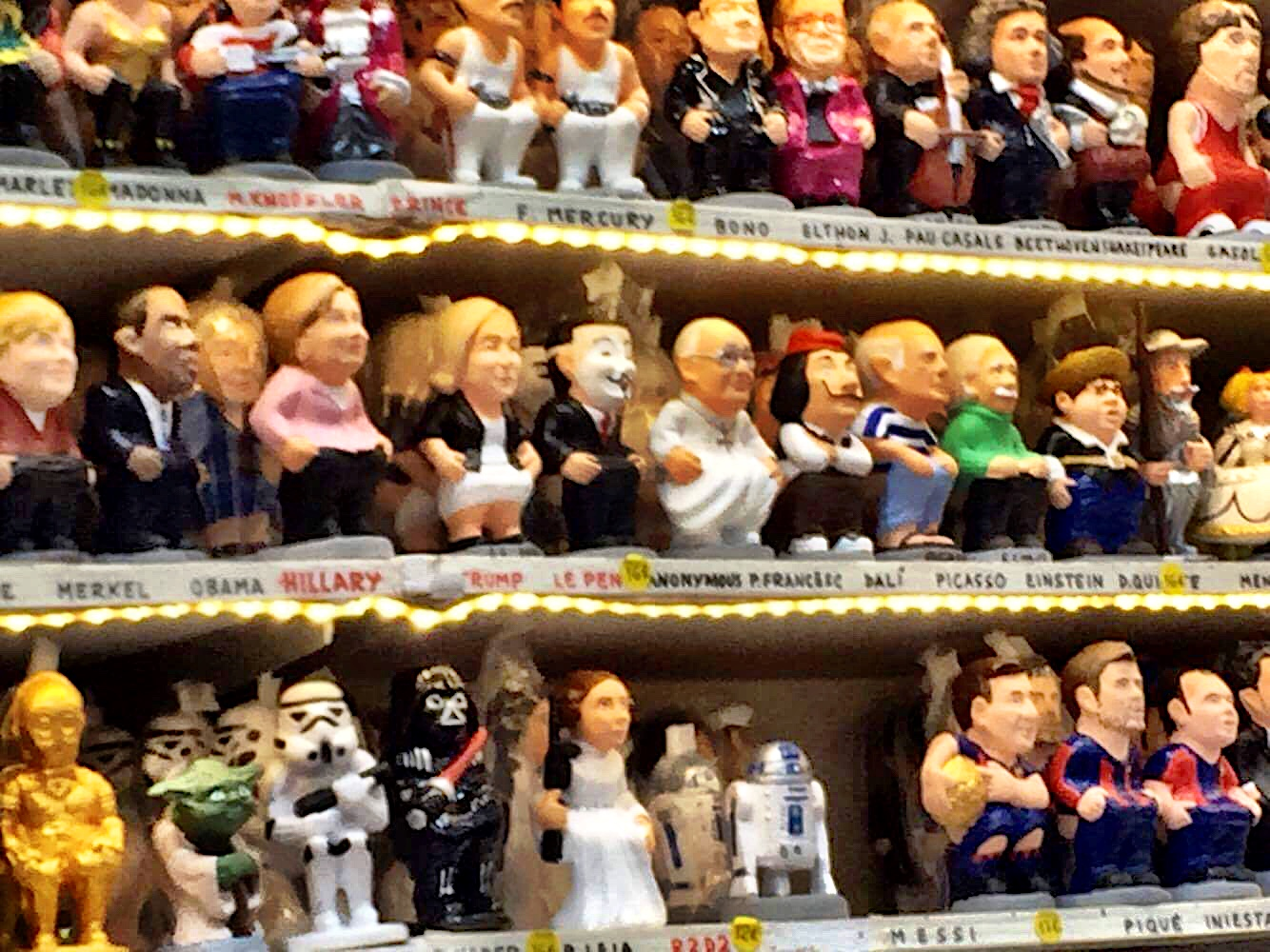 Political, pop culture and sports figures all get the Caganer treatment