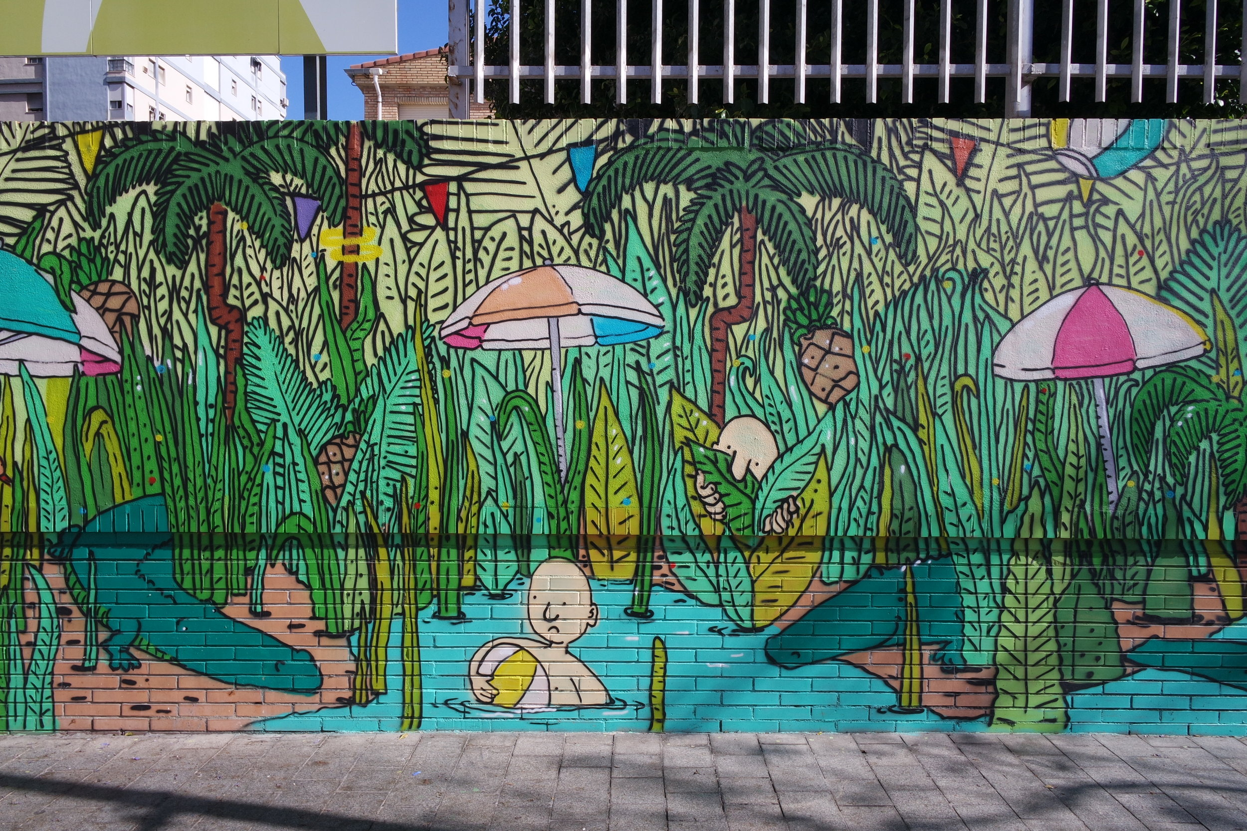 One of the many colorful murals you'll find roaming around Soho, as part of the MAUS initiative