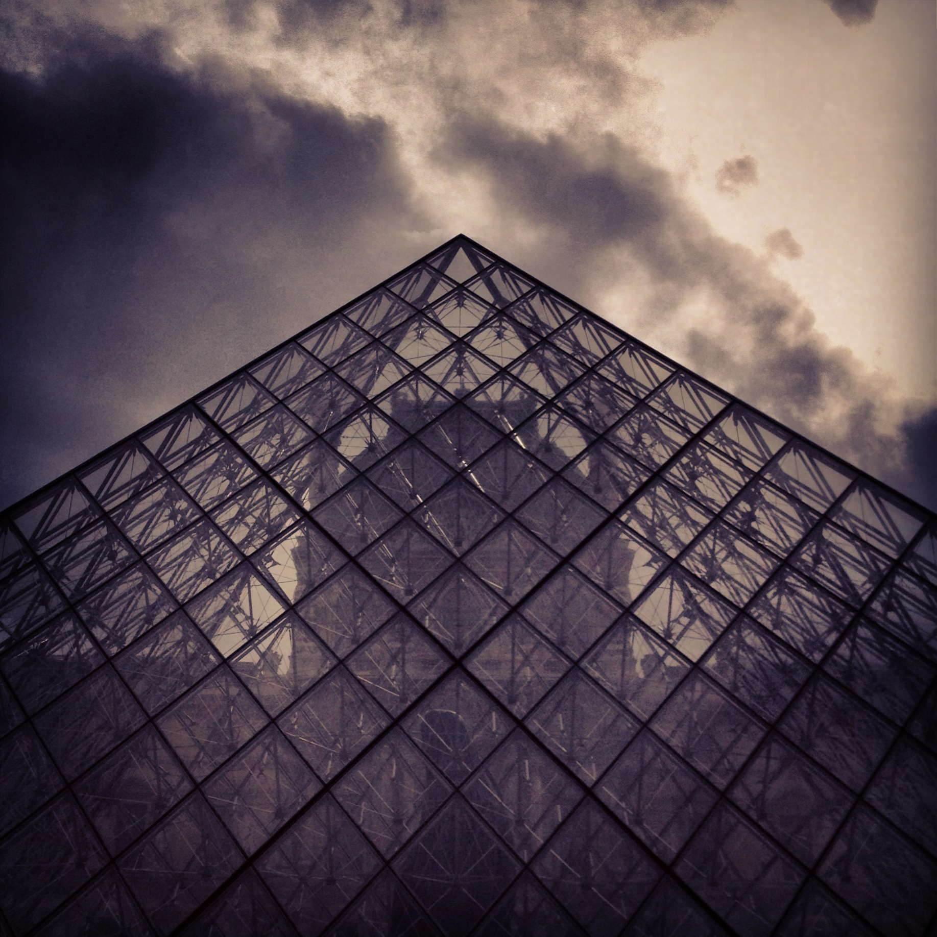 20. Louvre is in the air at Paris' famous museum.