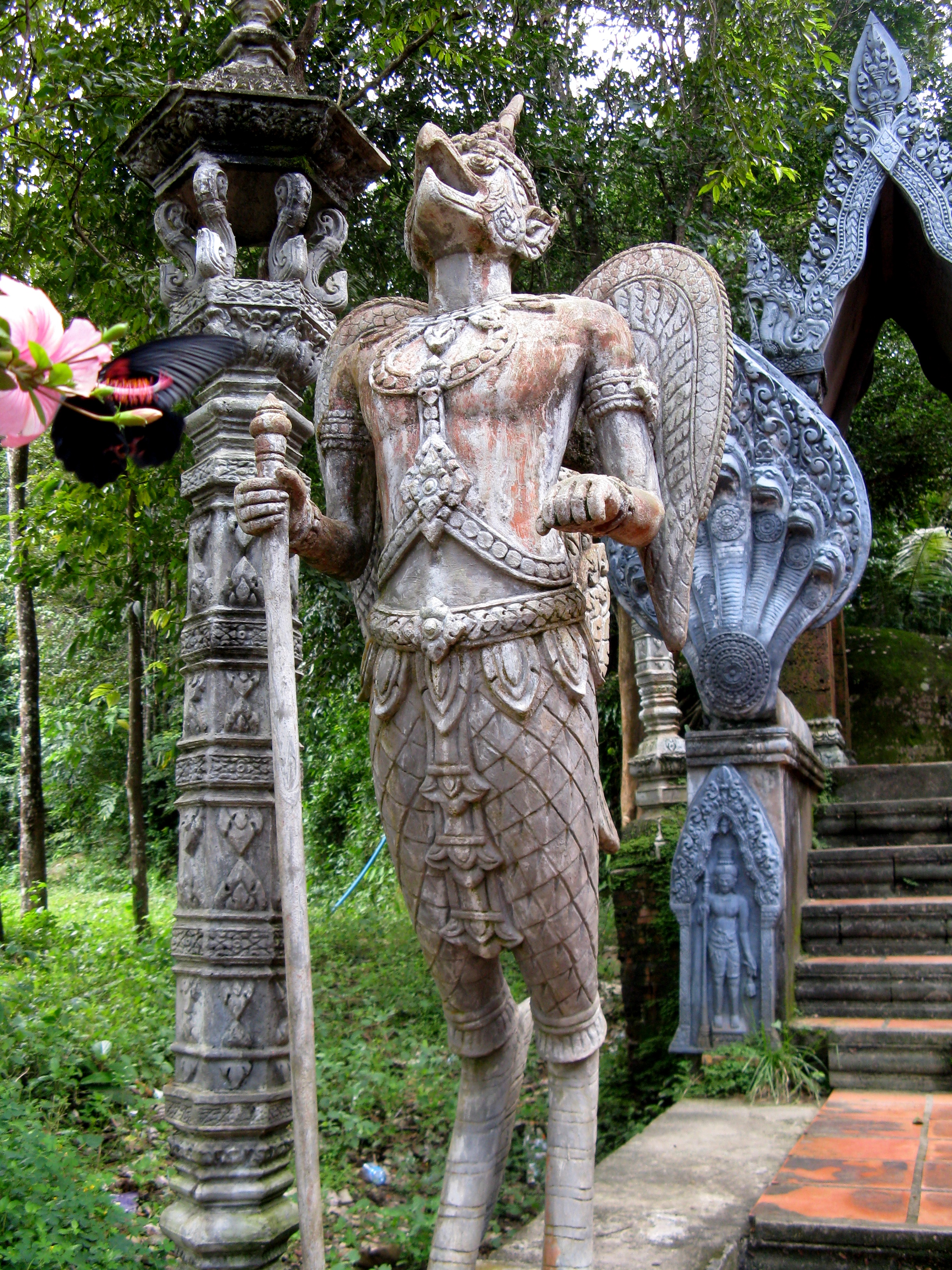 A kinnara, a mythical bird-man of Thai mythology