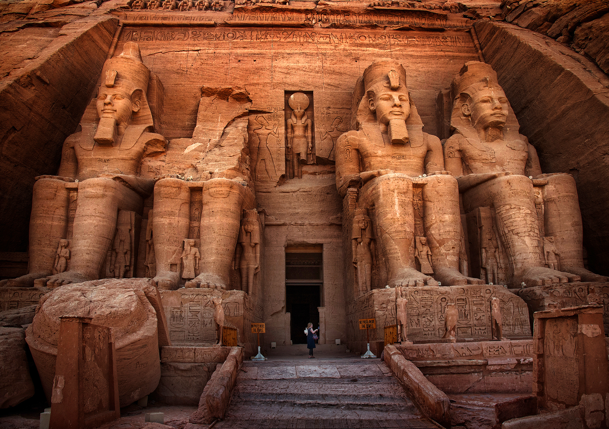 Entrance to the main temple at Abu Simbel