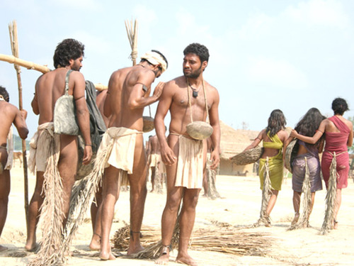 A still from the 2012 Hindi movie  Shudra: The Rising? , about the poor treatment of this low caste (I'm pretty sure most of them aren't this hot)