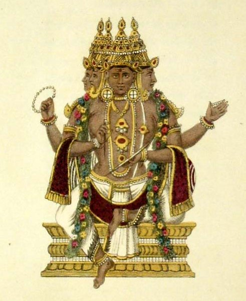 Each caste is said to have come from a different part of the body of Brahma, the Hindu creator god