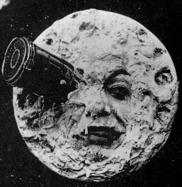 The iconic shot from Mélièrs'  A Trip to the Moon
