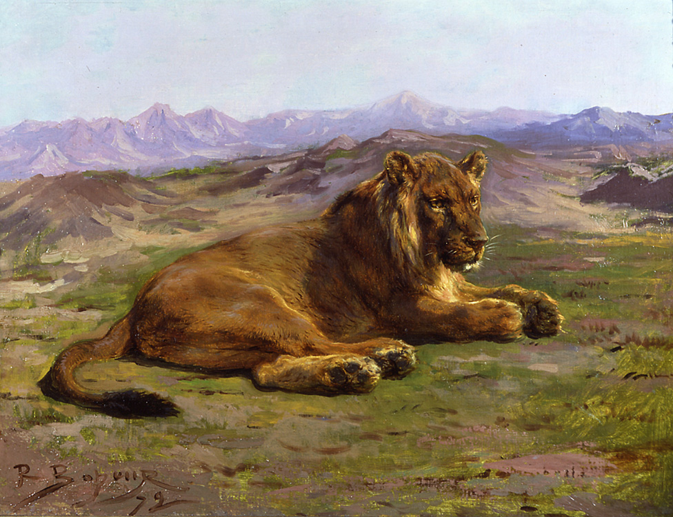 Lions and horses were among Bonheur's favorite subjects