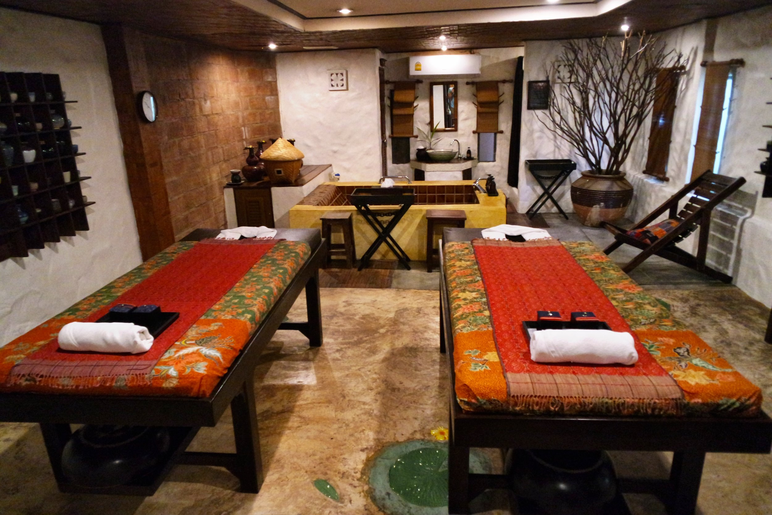 The rooms at Fah Lanna Spa are named for local regions and the handicrafts they're known for