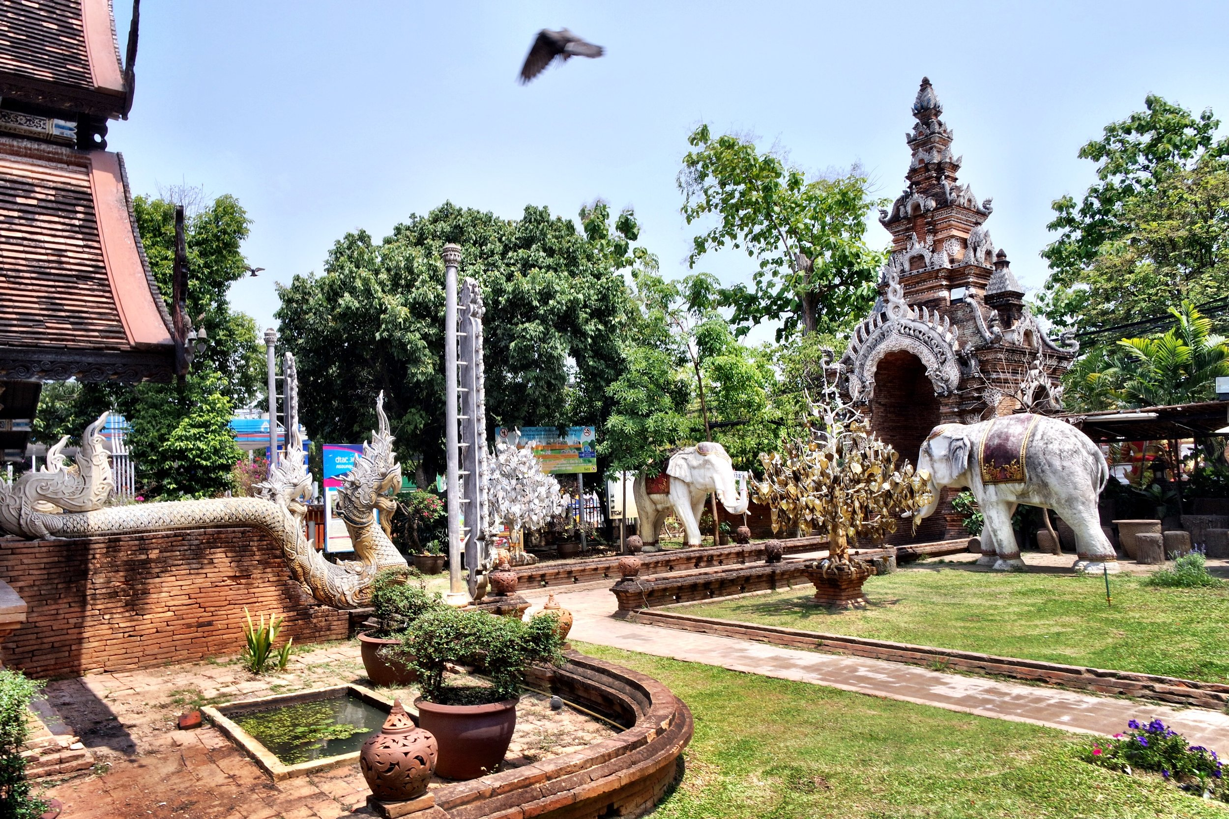 It never makes the list of must-see temples in Chiang Mai, but we both fell under the spell of Wat Lok Molee
