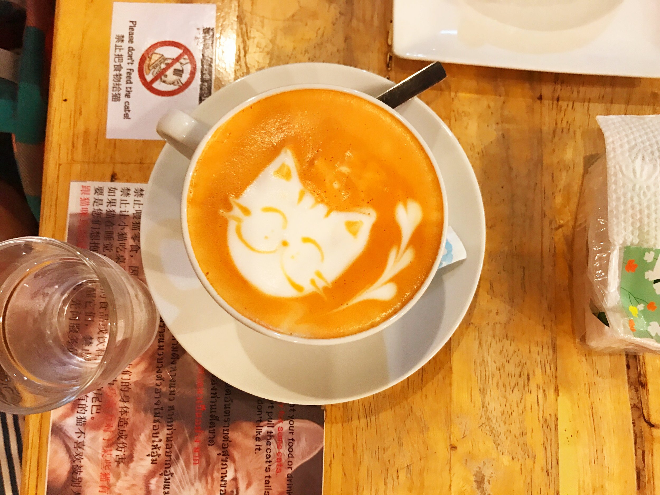 The latte art was enough to make us regret our decision to go with iced
