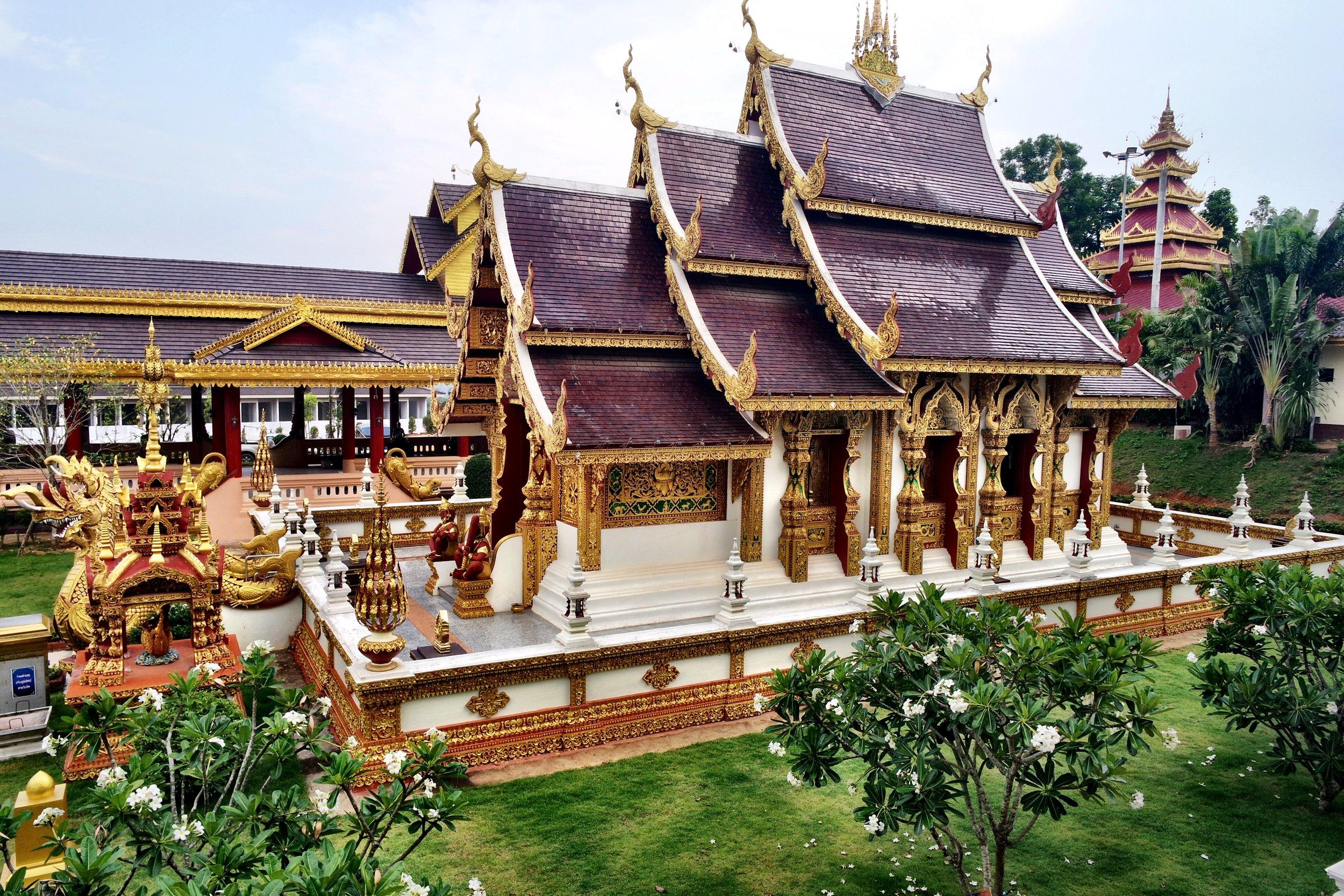 The storybook viharn at Wat Sang Kaew in Chiang Rai, Thailand