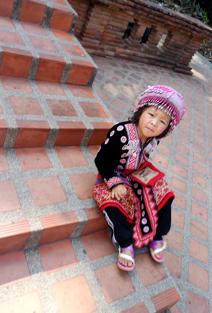 If you want to take pictures of the kids in traditional hill tribe garb, be prepared to pay