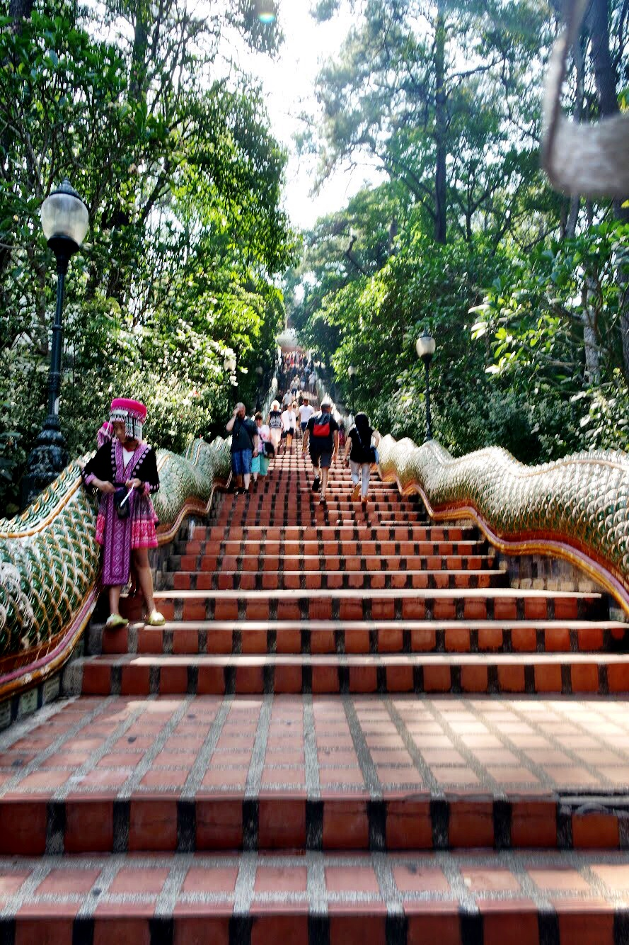 We heard there's a funicular that will take you up to the temple if you don't want to deal with these stairs