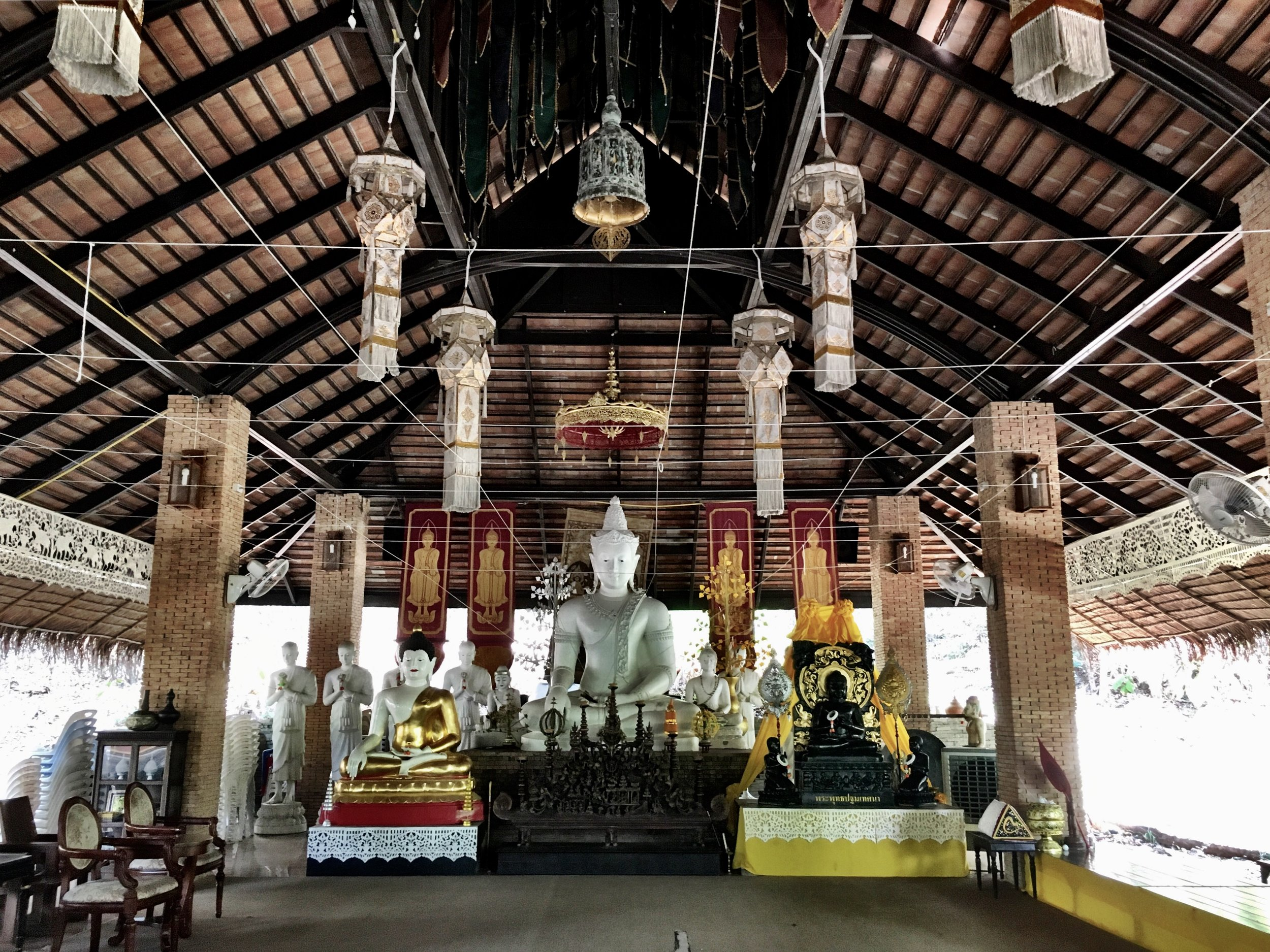 The sala at Wat Palad feels less wild than much of the rest of the complex