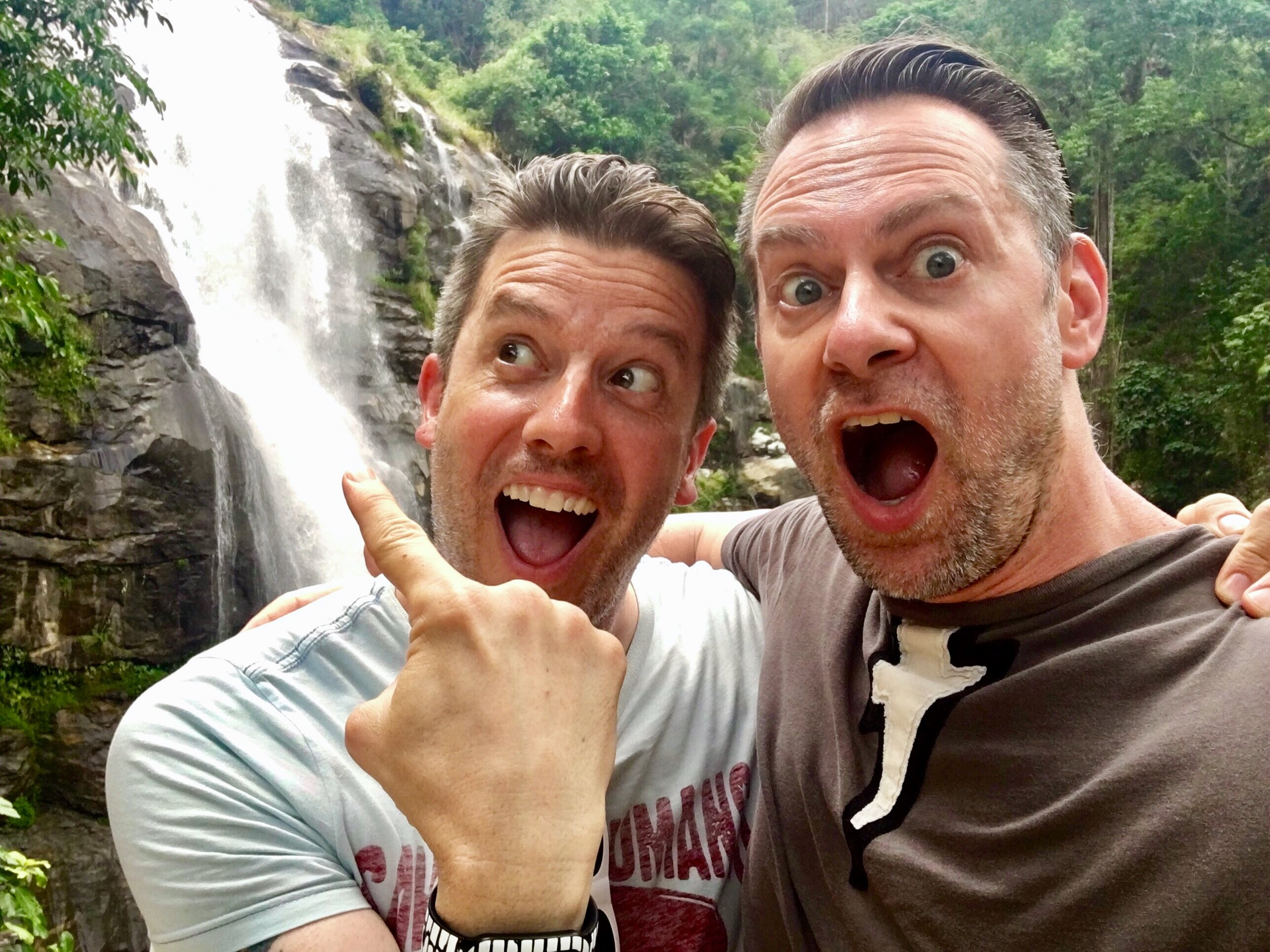 TLC be damned! Wally and Duke did go chasing waterfalls