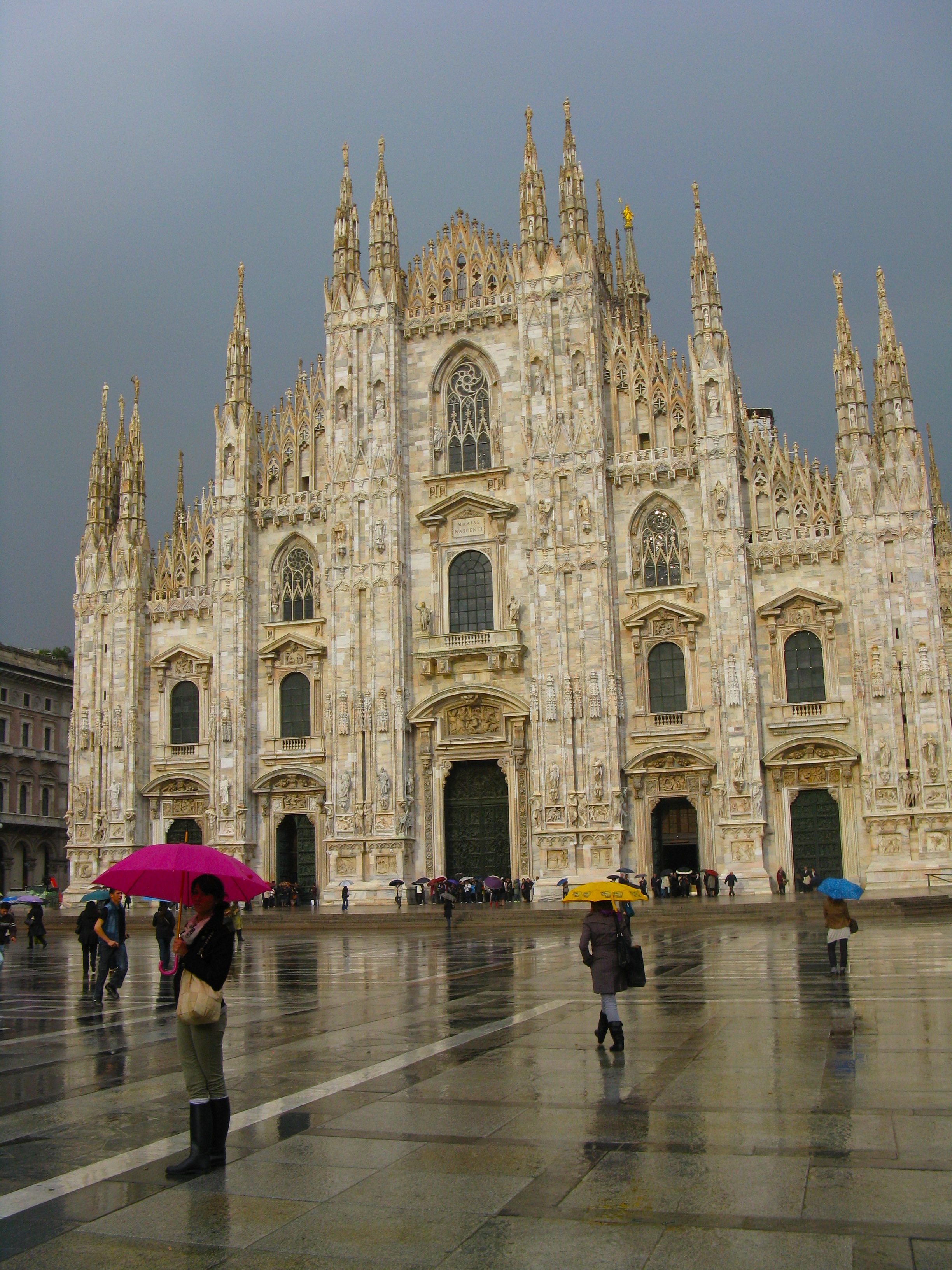 Somehow the Milan Duomo was even more beautiful in the rain